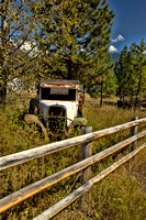Photograph of an abandoned vehicle by Crystal Nederman.