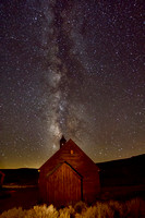 Time lapse photo of the Bodie Methodist Church by Crystal Nederman