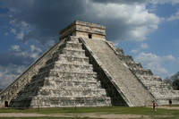 This is the most photographed Mayan ruin in Chichen Itza, Mexico by Crystal Nederman