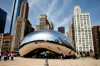 Color photograph pf Cloud Gate in Chicago's Millennium Park by Crystal Nederman