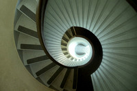A photographic pattern created from the spiral staircase of a lighthouse by Crystal Nederman