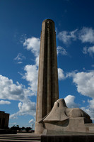 Color photograph of the Liberty Memorial and sphinx in Kansas City, MO