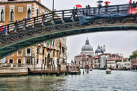 An arched bridge over the Grand Cancal in Venice, Italy by Crystal Nederman