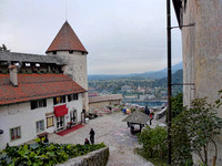Photograph of the courtyard of Bled Castle by Crystal Nederman