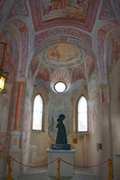 Photograph of the chapel and frescoes of Bled Castle by Crystal Nederman