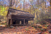 Rustic cabin hiding in the woods of the Smoky Mountains by Crystal Nederman.