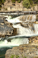 This is a photograph of part of the Kootenai Falls by Crystal Nederman