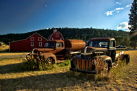 Photograph of retired farm trucks in Montana by Crystal Nederman