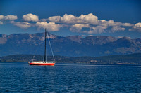Photograph of a sailboat on Flathead Lake by Crystal Nederman